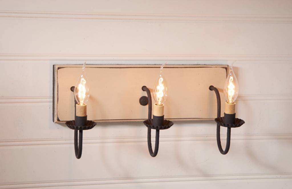 Irvin's Tinware Three Light Vanity Light