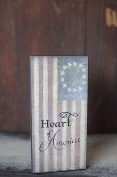 Nanas Farmhouse Heart Of America Block Sign