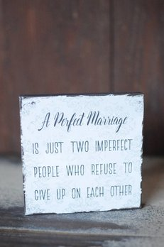 Nanas Farmhouse A Perfect Marriage Block Sign