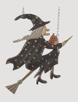 K & K Interiors Flying Witch on Broomstick Arrow Replacement