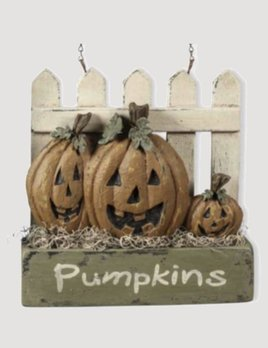 K & K Interiors Pumpkins on Picket Fence Arrow Replacement