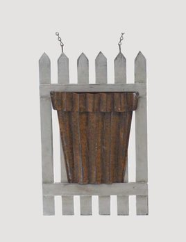 K & K Interiors White Wood Picket Fence Arrow Replacement