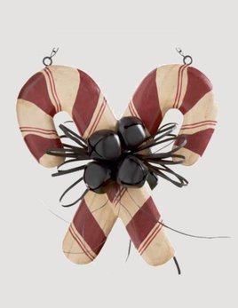 K & K Interiors Double Candy Cane with Bells Arrow Replacement