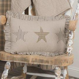 VHC Brands Sawyer Mill Star Charcoal Pillow