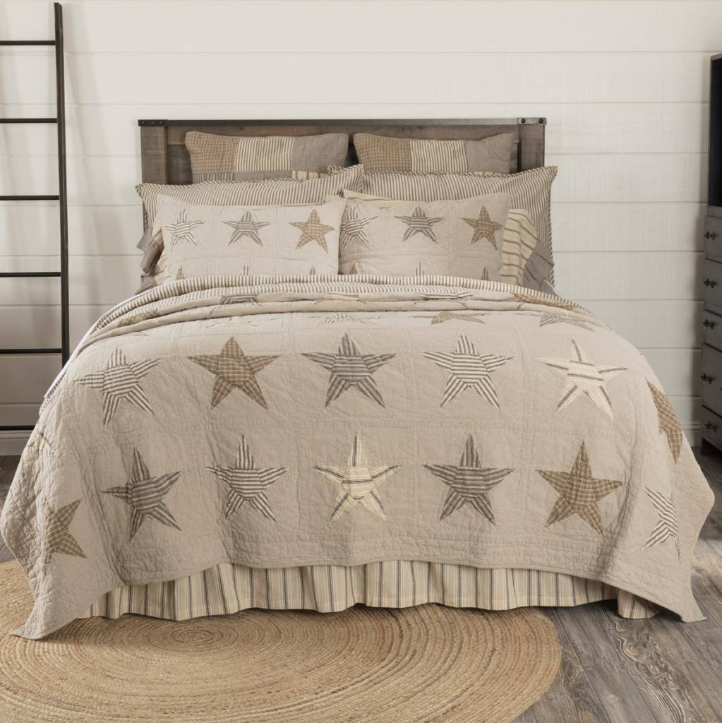 VHC Brands Sawyer Mill Star Charcoal Quilt