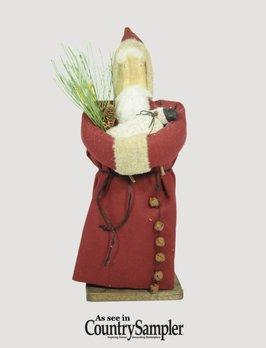 Red Wool Santa with Sheep