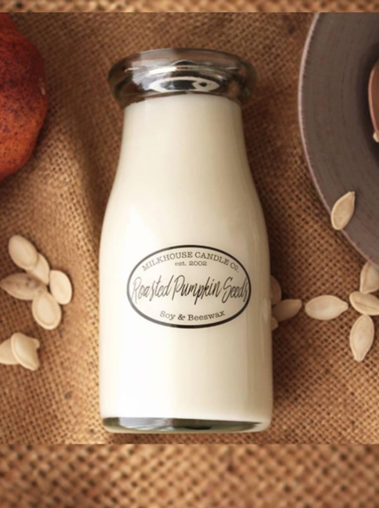 Milkhouse Candles Milkhouse Candle Roasted Pumpkin Seeds 8oz Milk Bottle