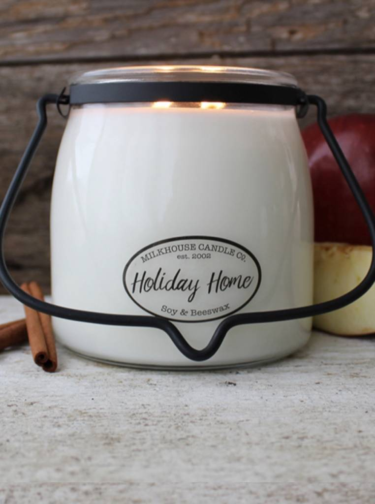 Milkhouse Candles Milkhouse Candle Holiday Home 16oz Butter Jar
