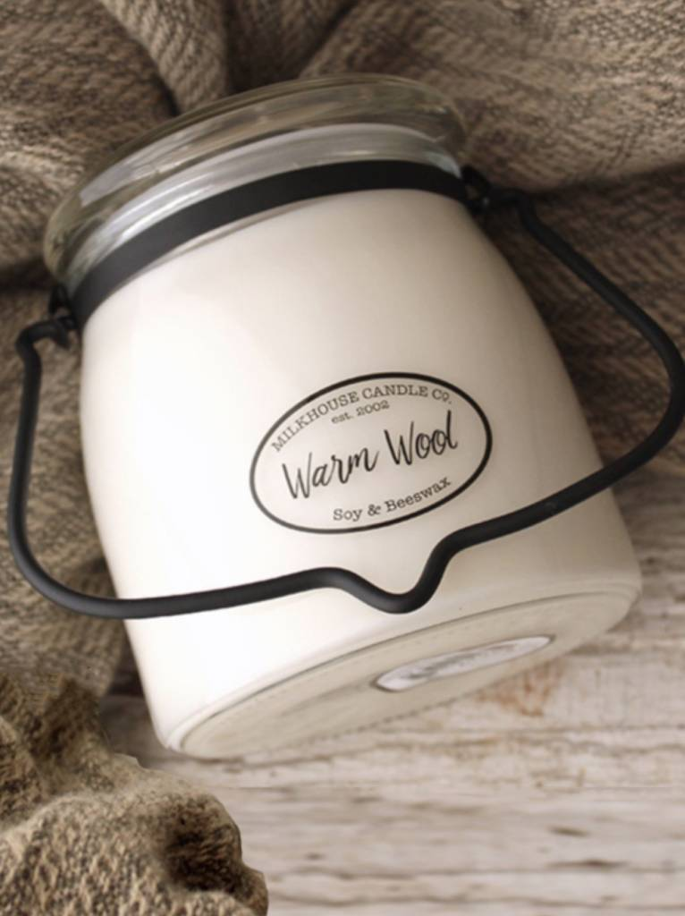 Milkhouse Candles Milkhouse Candle Warm Wool 16oz Butter Jar