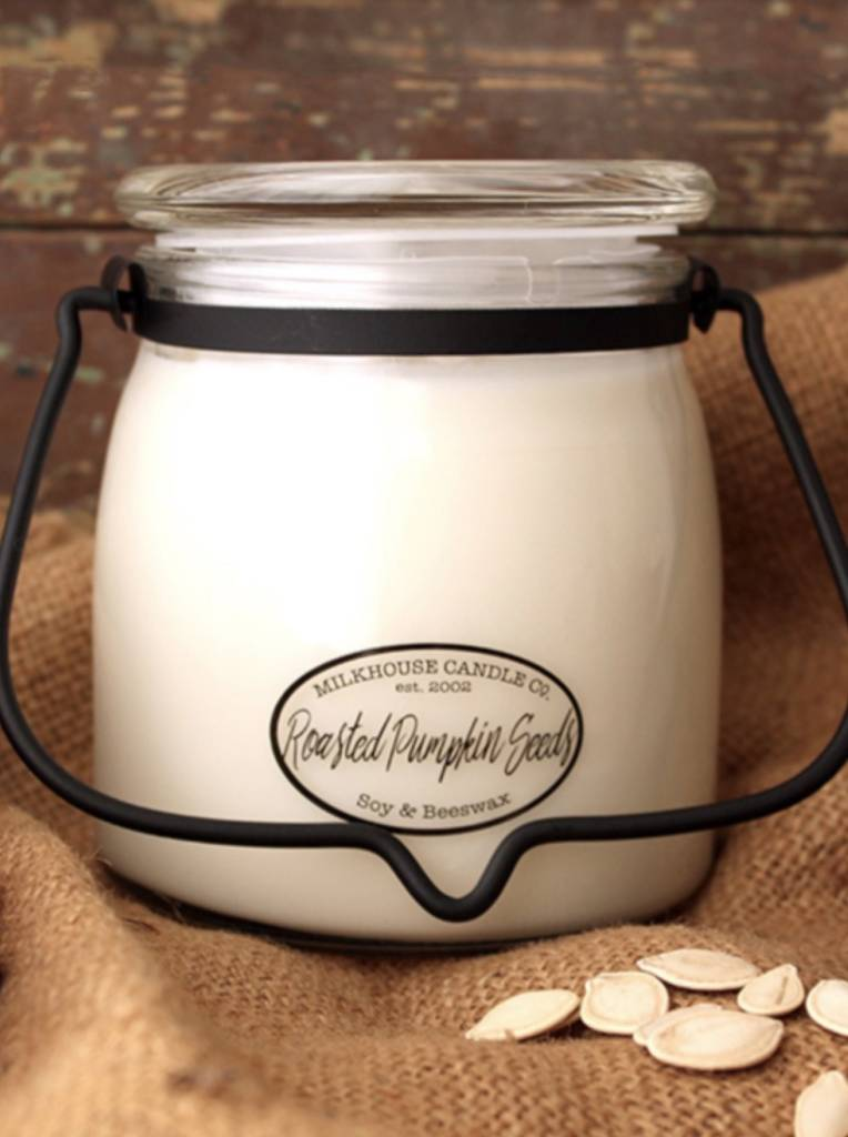 Milkhouse Candles Milkhouse Candle Roasted Pumpkin Seeds 16oz Butter Jar