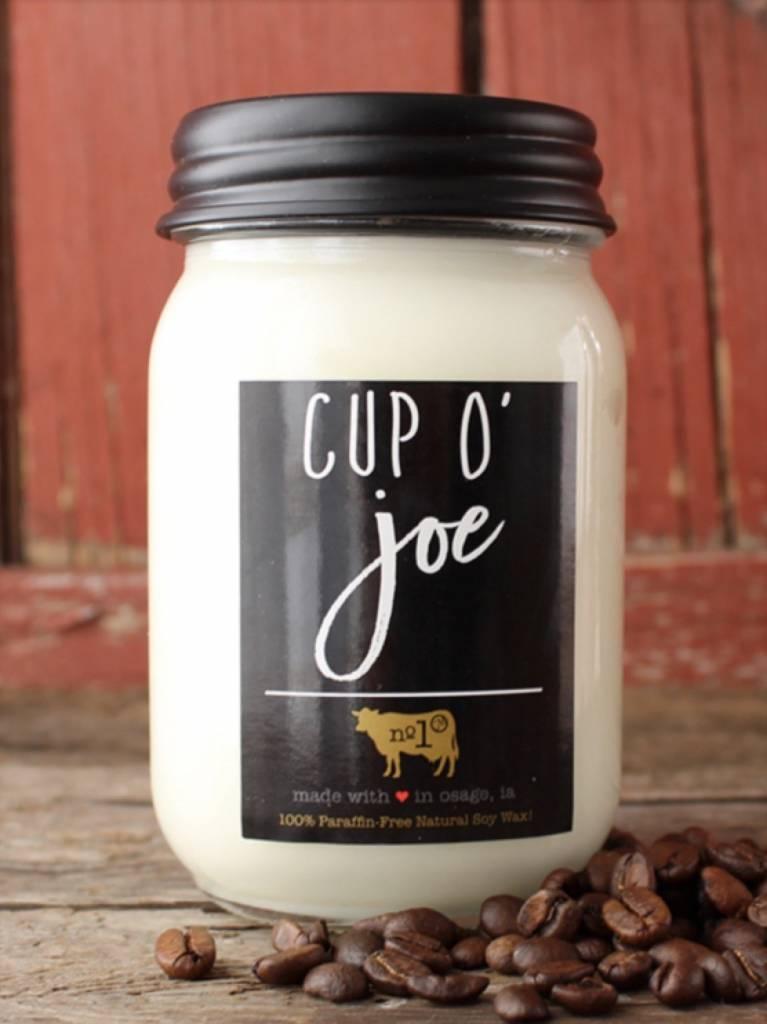 Milkhouse Candles Milkhouse Candle Cup O' Joe 13oz Mason Jar