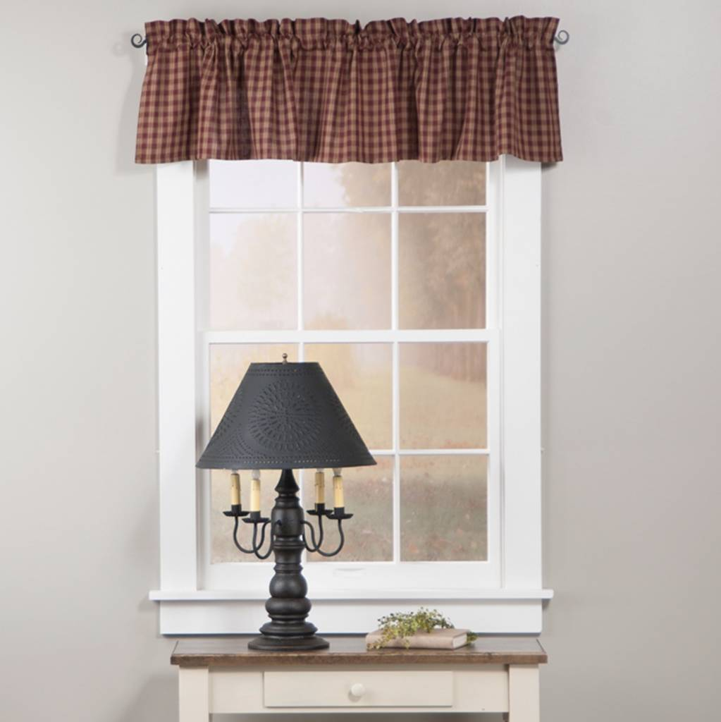 Park Designs Sturbridge Valance Wine 72 x 14