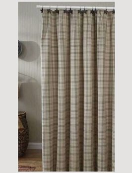 Park Designs Fieldstone Plaid Black Shower Curtain