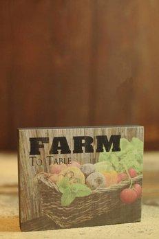 Nana's Farmhouse Farm To Table Block Sign