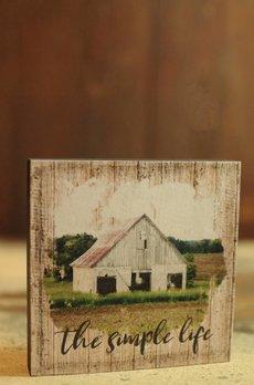 Nana's Farmhouse The Simple Life Block Sign