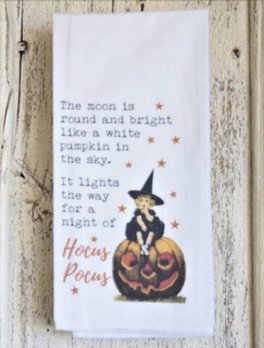 1803 Candles 1803 Hocus Pocus Flour Sack Towel