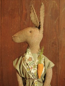 Nana's Farmhouse Primitive Handmade Rabbit
