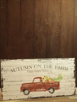 Autumn On The Farm - Plant Grow Harvest Sign