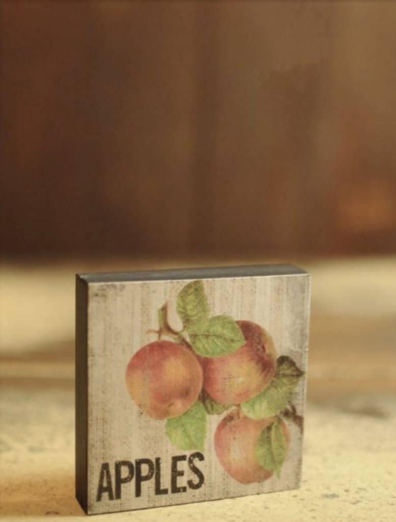 Nanas Farmhouse Apples Block Sign
