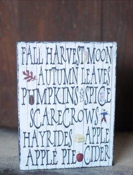 Nanas Farmhouse Fall Words Sign