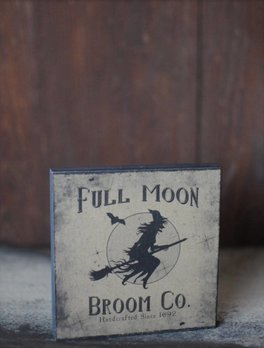 Full Moon Broom Company Block Sign