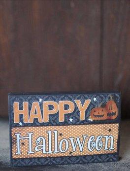 Nanas Farmhouse Happy Halloween Block Sign