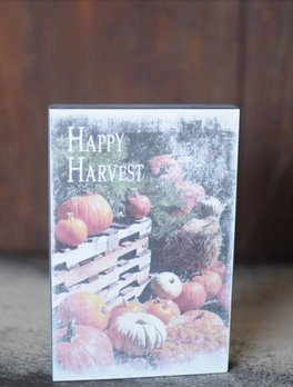 Happy Harvest Block Sign