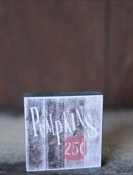 Nanas Farmhouse Pumpkins 25 Cents Block Sign