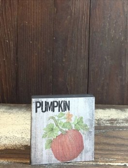 Pumpkin Block Sign