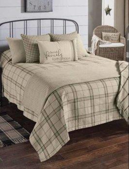 Park Designs Fieldstone Plaid Queen Black Bedspread