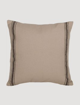 Home Collections By Raghu Grain Sack Stripe Pillow - Black