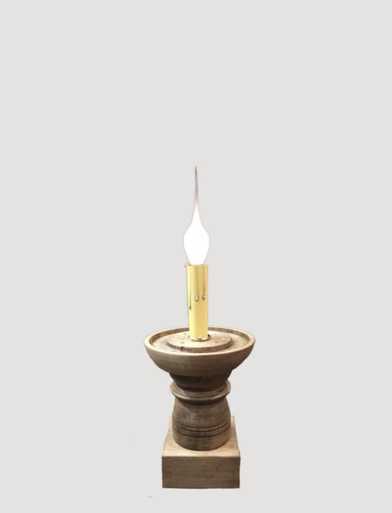 Farmhouse Candle Sleeve Pedestal Small