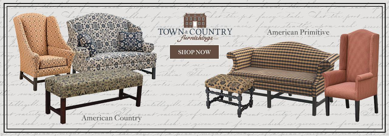 Primitive Couches And Chairs Off 55, Town And Country Primitive Upholstered Furniture