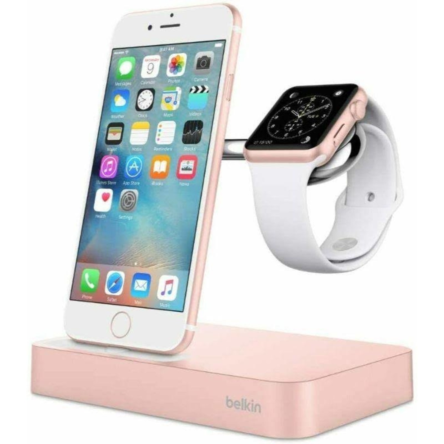 Belkin Valet Charge Dock For Apple Watch Iphone Rose Gold Kite Key Rutgers Tech Store