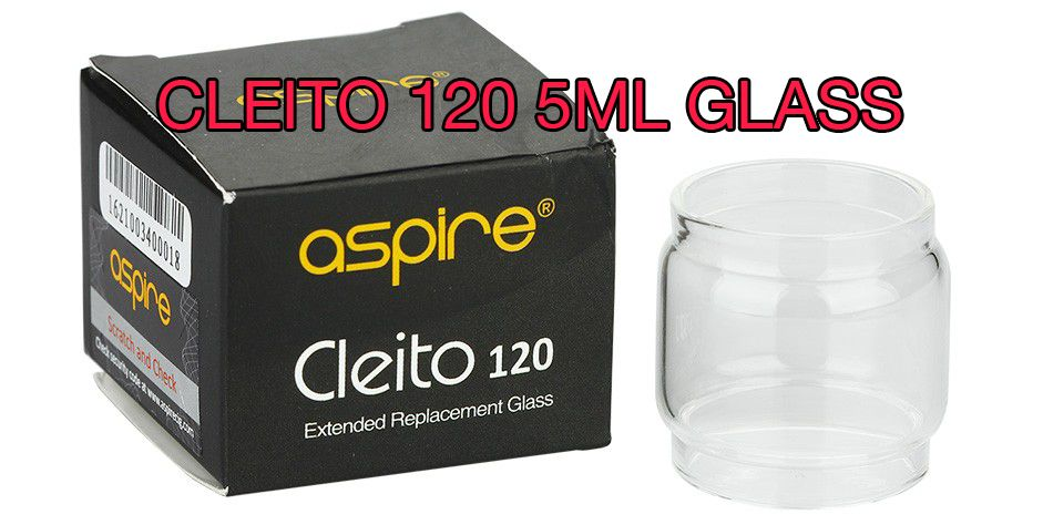 Replacement 5ml glass for the Aspire Cleito 120