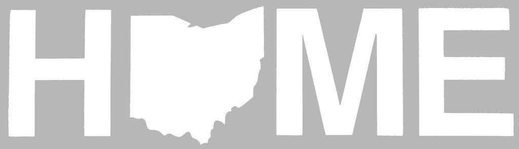 Home Ohio Sticker - White DNR