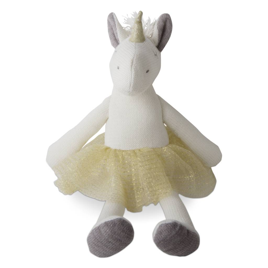tag* White Unicorn Plush