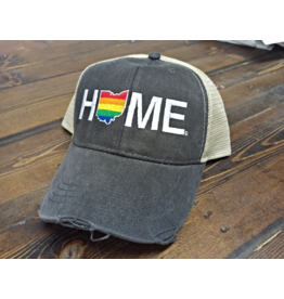 Home Rainbow Hat Tan/Charcoal Mesh
