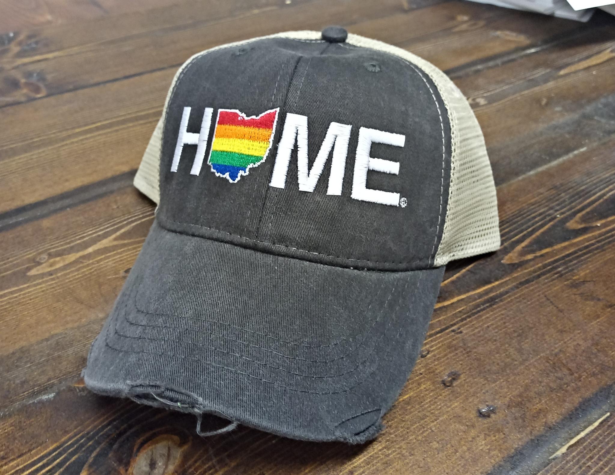 Home Rainbow Hat Tan/Charcoal Mesh