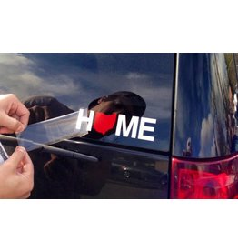Home Ohio Sticker - Red