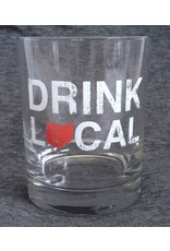 Drink Local Rocks Glass - Red / S