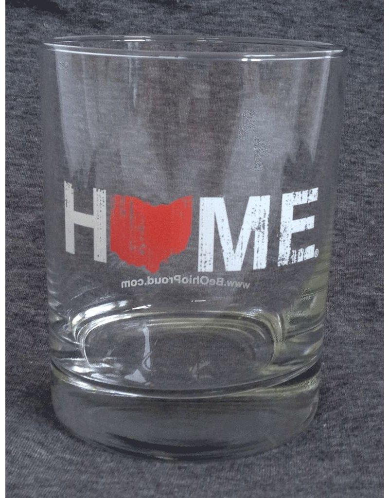 Home Rocks Glass - Red