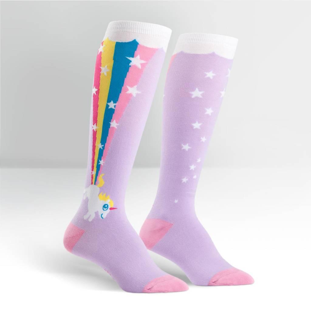 Sock It To Me Rainbow Blast - Women's Knee High Socks