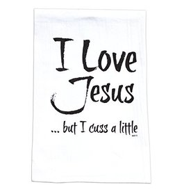 Twisted Wares / Missy Madewell* Hang Tight Towel - I Love Jesus But I  Cuss a Little