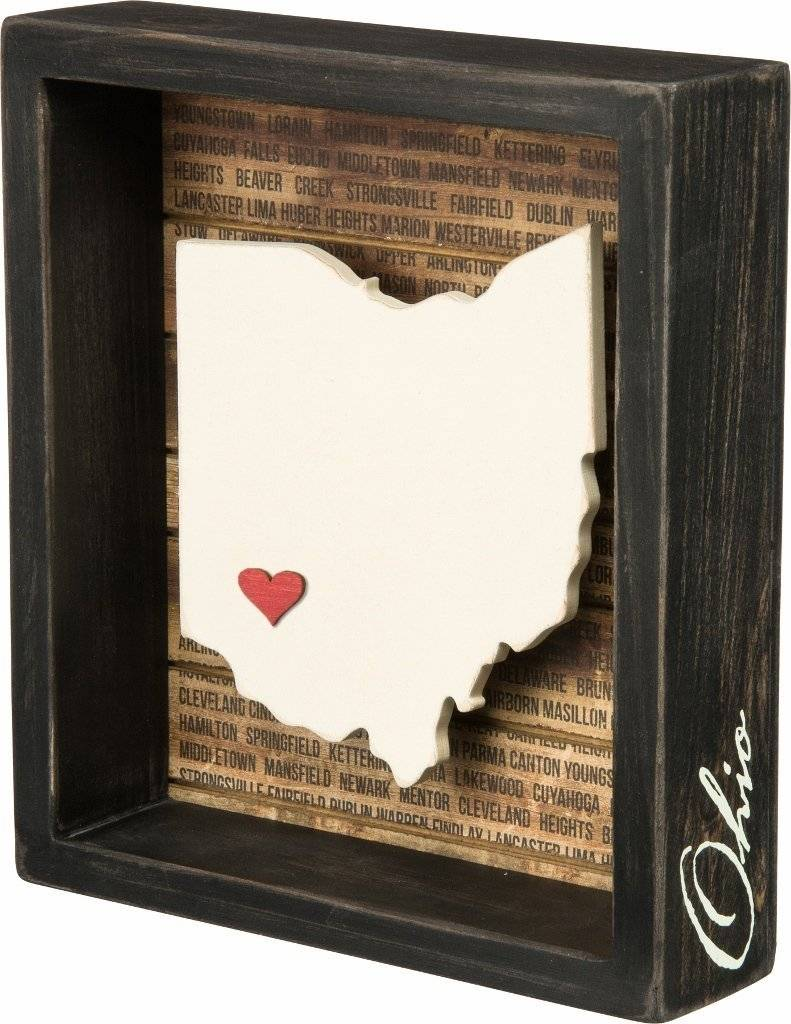 Primitives by Kathy Ohio - Box Sign with Adhesive Heart