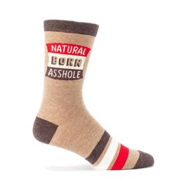 Natural Born Asshole Men's Crew Socks !