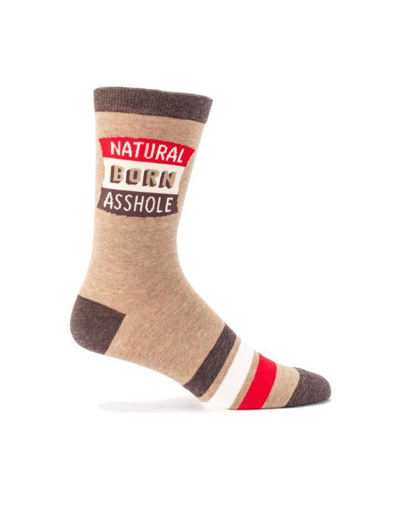 Natural Born Asshole Men's Crew Socks !