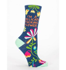 I'm A Delicate Fucking Flower Crew Socks !