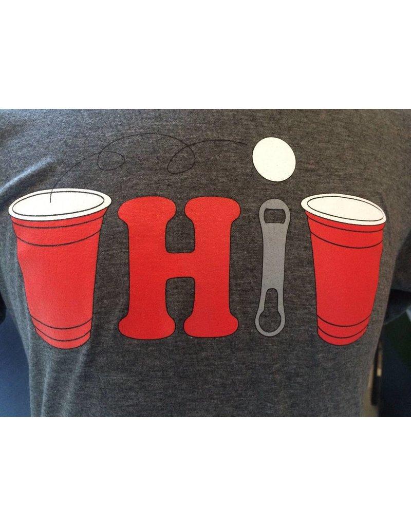 Pong Ohio Crew Neck Unisex T-Shirt
