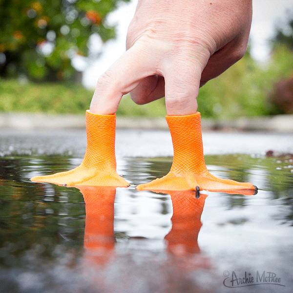 Finger Puppet - Duck Feet / S